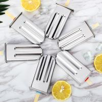 Stainless Steel DIY Lolly Bar Stick Holder Freezer Fruit Ice Cream Maker Mold