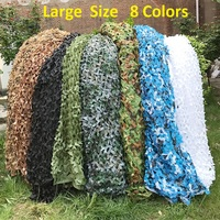Large Size 8x8 Meter Military Camouflage Net Camping Hunting Camo Net Truck Cover Sun Shelter Background Decoration Tent Shade