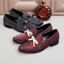 Fringe Rivets Rhinestone Men Luxurious Shoes with Butterfly Men Casual Shoes Handmade Tassel Party Wedding Leather Male Loafers