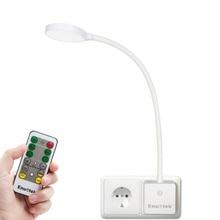 Afstandsbediening Plug In Flexibele Led Nachtkastje Reading Night Lamp Dimbare Led Stopcontact Licht 4W Europese Plug 1 lamp En 1 Rem