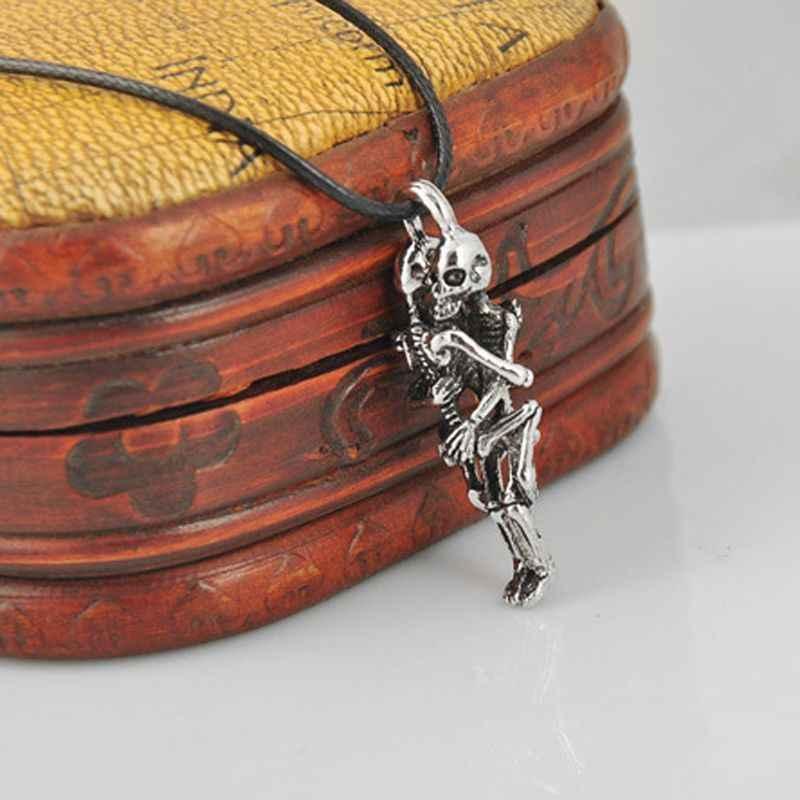 1Pc moda naszyjnik mężczyźni nieskończoność tybet srebrny czarny czaszka ze stali nierdzewnej wisiorek dla kobiet czeski Choker prezent dla dziewczyny