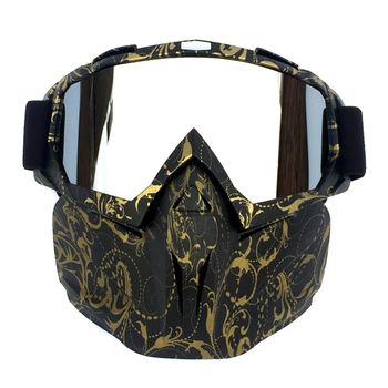 Cycling Helmet Goggle Mask Carbon Style Tough Guy Men Design Breathable Racing ATV Riding Eye Wear  windproof Eyepiece Goggles 1