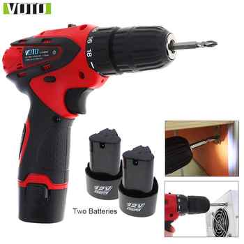 VOTO AC 100 - 240V Cordless 12V Electric Screwdriver with Two-speed Adjustment Button for Handling Screws / Punching - DISCOUNT ITEM  38% OFF All Category