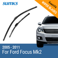 Free Shipping Sumks Framless Wiper Blade For F O C U S Soft Rubber 26 17