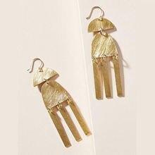 Модные ювелирные украшения висячие серьги из матового золота