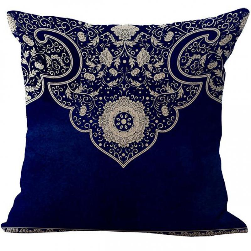 Porcelain Blue Decorative Pillows : Factory Direct Chinese Style Blue And White Porcelain Flower Pattern Cotton Throw Pillow Home ...