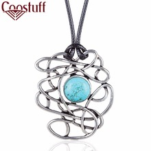 New Arrival Turquoise Women Jewelry Vintage statement necklaces & pendants Fashion Long Necklace relogio choker colar