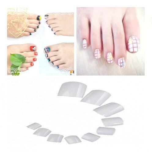 500pcs White French False Acrylic Gel Toe Nail Art Tips Design Salon