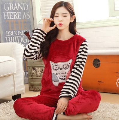 Various winter good quality pregnant pajamas flannel maternity clothes set coral fleece maternity pajamas nightwear sleepwear