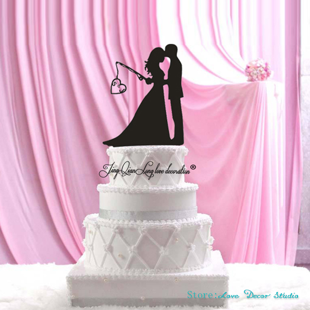 Personalized Wood Wedding Cake Topper,Wedding Bride and Groom ...