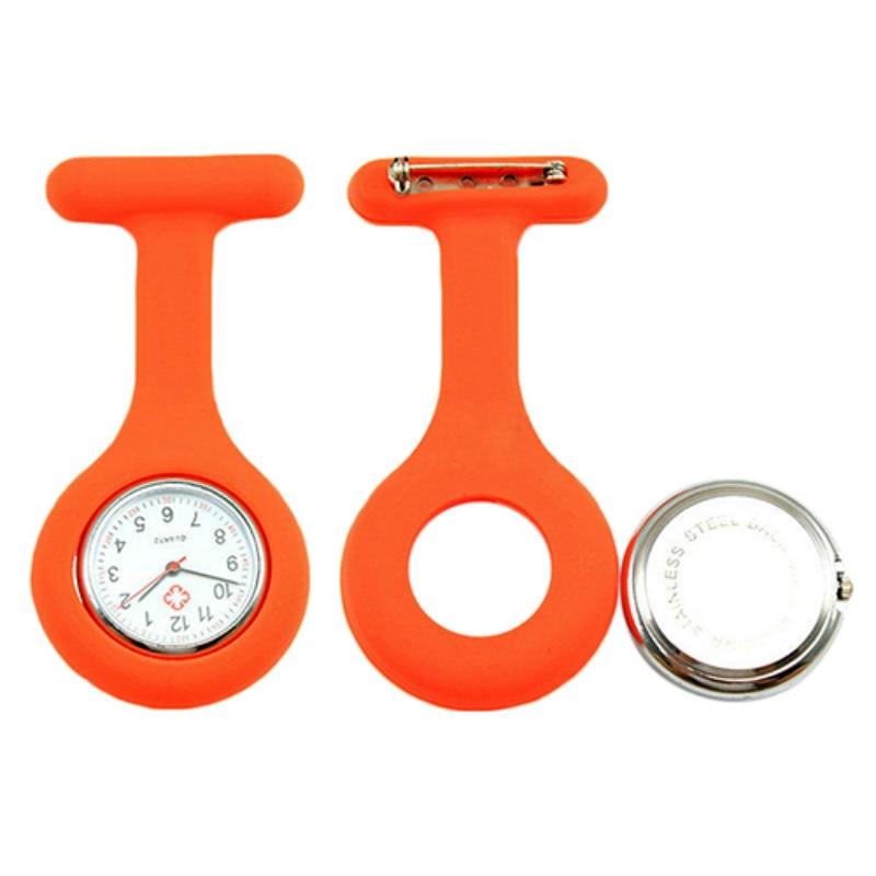 New Cute Silicone Nurse Watch Brooch Fob Pocket Tunic Quartz Movement Watch  N76Y Smt 89