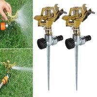 2pcs Garden Sprinkler Spike Lawn Grass Adjustable Rotating Water Sprayer for Garden Irrigation SKD88 Garden Sprinklers Home & Garden -