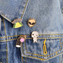 4 pz/set X Lime UFO alien tv show pin set X-Lime spilla Alien monili I want to believe gioielli Distintivo spilla(China)