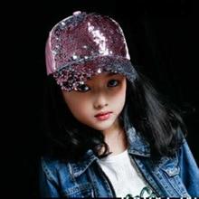 MAERSHEI Summer Girls boys Hat Baseball Cap Sequins Bling Hi