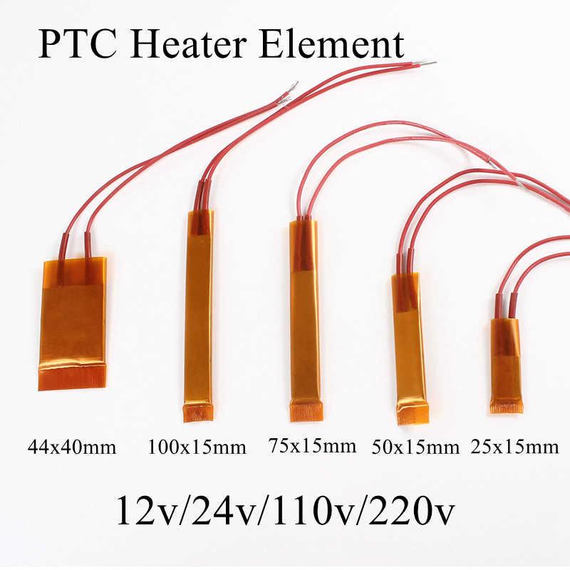 100 x15mm 12V 24V 110V 220V PTC Heizung Element Konstante Thermostat Isolierte Thermistor Keramik Luft Heizung rohr Film 100*15mm