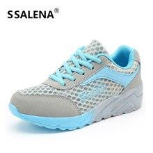 Женская обувь на платформе с полукруглой подошвой, дышащие летние женские кроссовки, уличные легкие кроссовки на шнуровке, AA60019