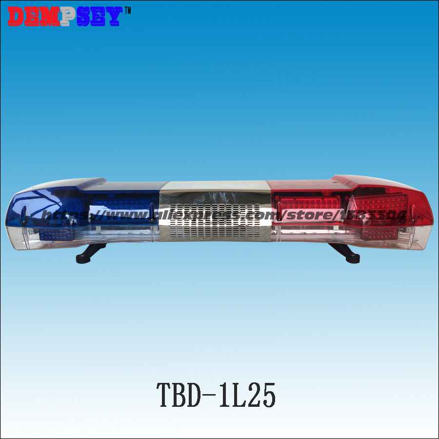 TBD-1L25 High quality Warning lightbar LED police light bar 100W siren & 100W speaker DC12V Emergency strobe warning light higher star 140cm 104w led emergency lightbar truck warning light bar strobe light for police ambulance fire vehicles waterproof
