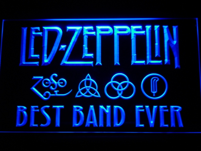 313 Best Band Ever Led Zeppelin LED Neon Sign with On/Off Switch 20+ Colors 5 Sizes to choose