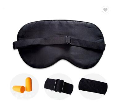 Custom Comfortable Satin Blindfold Eye Shade Sleep Mask With Adjustable Strap