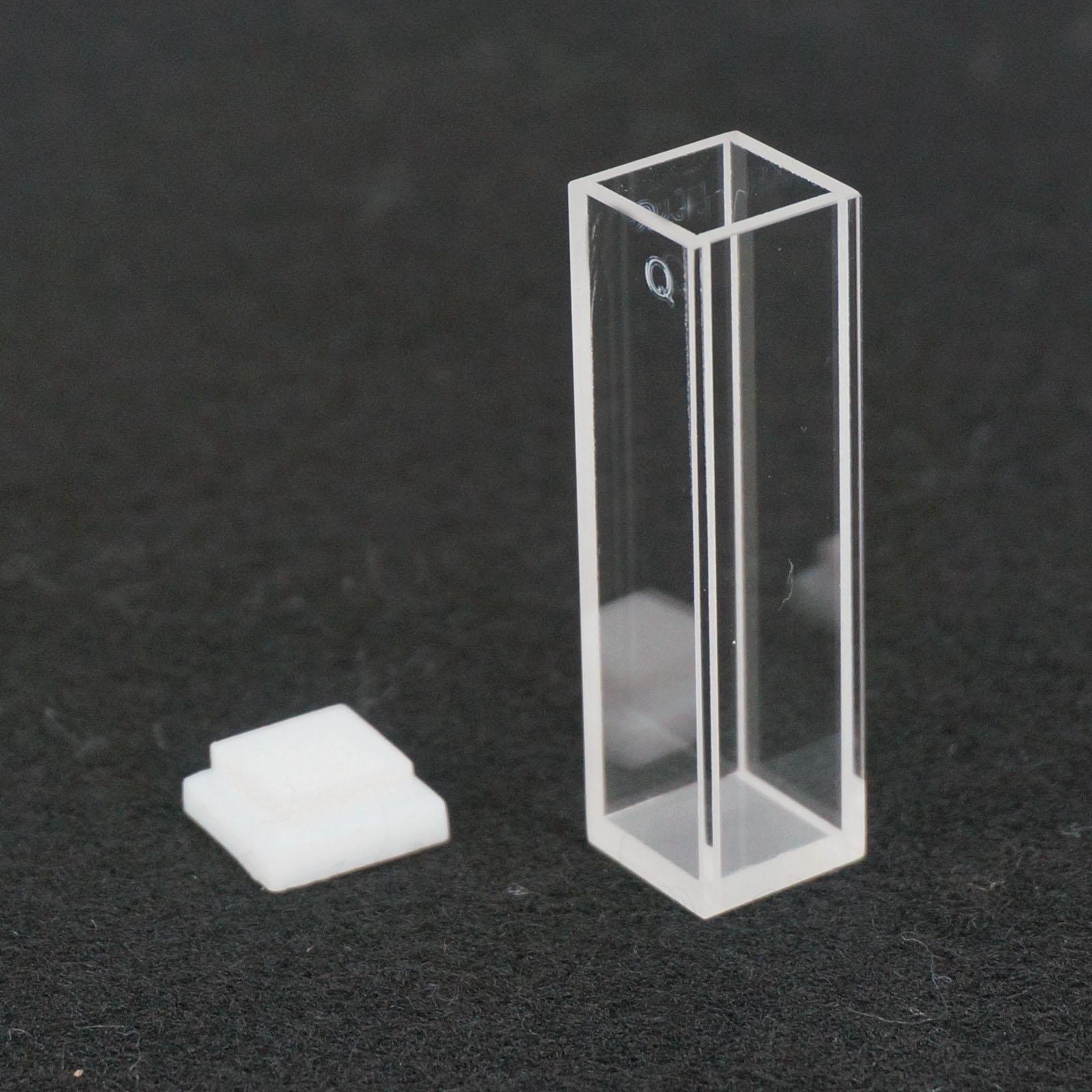 3.5ml 10mm Path JGS1 Quartz Cuvette Cell With Lid For Fluorescence Spectrometer 1pcs 5mm path length jgs1 quartz cuvette cell with with screw cap for spectrometer 4 widows