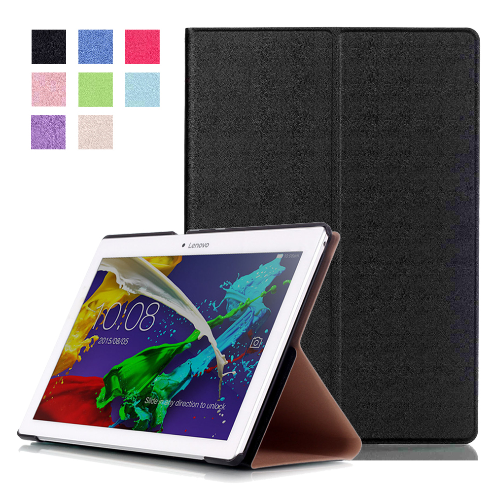 Solid PU Leather Case for Lenovo Tab 2 A10-70 A10-70F A10-70L Tab2 A10-30 X30F 10.1 inch Tablet PC Cover Sleep Wake up srjtek 10 1 for lenovo tab 2 a10 70 a10 70f a10 70l touch screen digitizer panel sensor outer glass tablet pc replacement parts