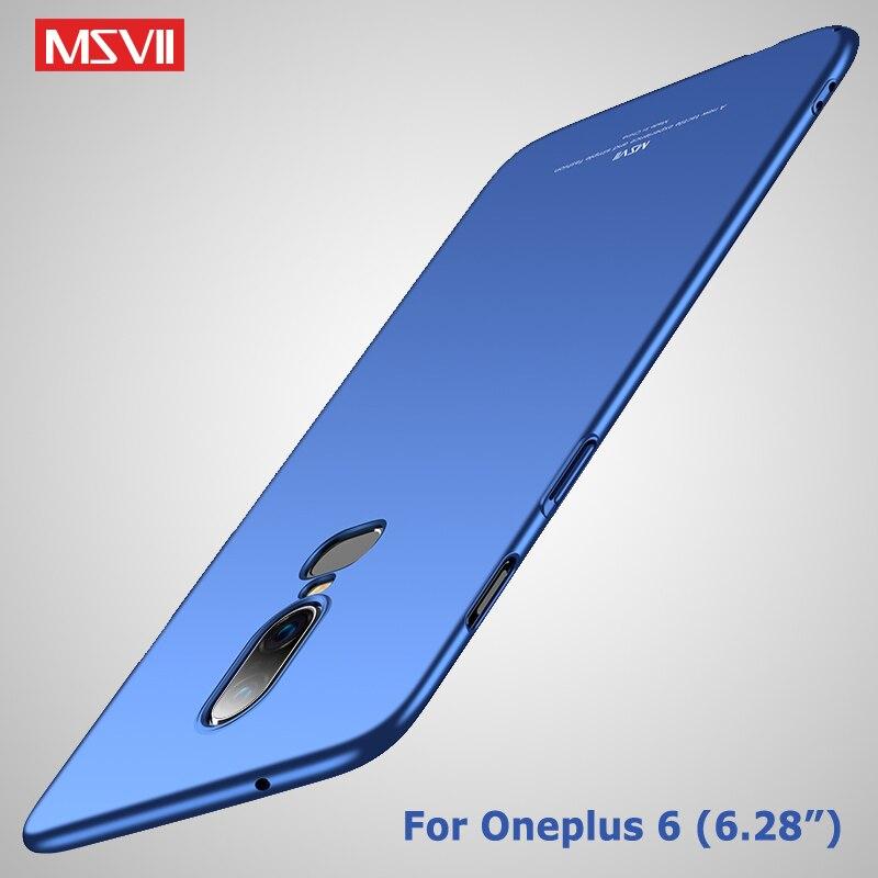 Один плюс 6 Чехол Msvii Сельма кожи Coque для Oneplus 6 Чехол Oneplus6 Жесткий PC задняя крышка для Oneplus 6 Т 6 т шесть 1 + 6 Чехол Для Телефона