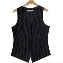2017 Spring and Autumn new brand women striped suit vest women's ol waistcoat plus size xxxl