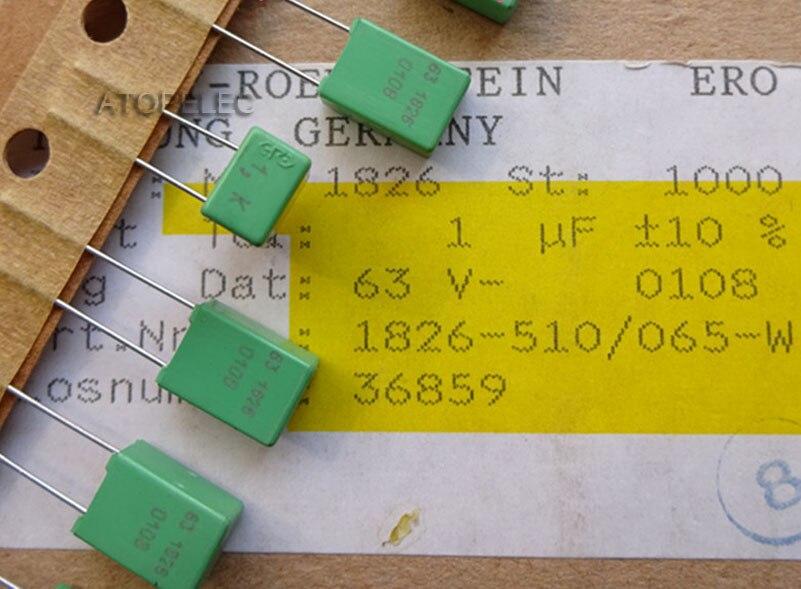 2-10pcs ERO 1uF//63V 5/% MKT1817 Film Capacitors Hi-Fi Audio 105
