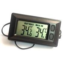 Мини Автомобильный цифровой термометр Цельсия по Фаренгейту 1,5 м внешний датчик в/из автомобиля Электронный температурный тестер макс мин запись