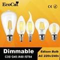 Dimmable LED Edison lamp E27 led bulb 220v E14 Vintage Filament ST64 A60 C35 G45 6W 8W E27 lampen replace incandescent bulb