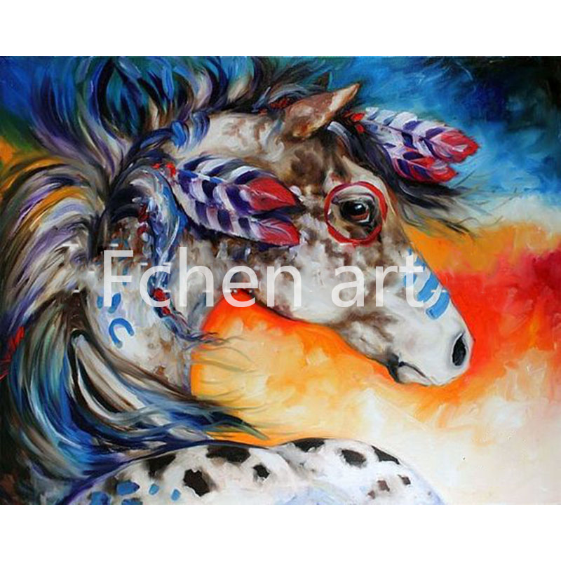 Acrylic Paint By Number For Adults Handsome Horse Bouquet Digital Oil Painting