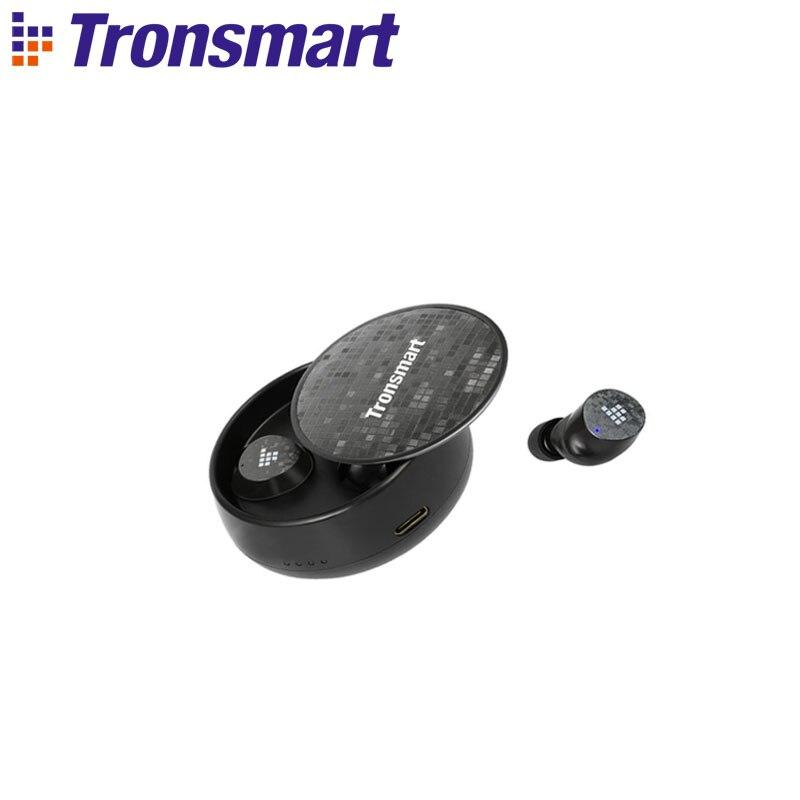 Tronsmart Spunky Pro Earphones Bluetooth 5.0 Wireless Headphones with IPX5 Waterproof,Superior Deep Bass,Voice Assistant