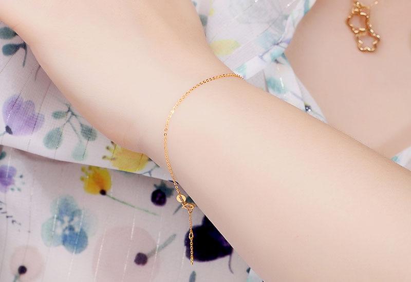 18k Au750 gold chain bracelet (2)