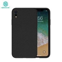 케이스 아이폰 12 미니 11 프로 최대 XR Xs 최대 Nillkin 합성 섬유 탄소 섬유 PP 플라스틱 뒷면 커버 아이폰 XR 케이스
