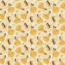 10 шт./лот искусственная мультфильм печатных принцесса Синтетическая кожа ткань Vinly для волос лук сумки 20 * см 34 см PPUL17