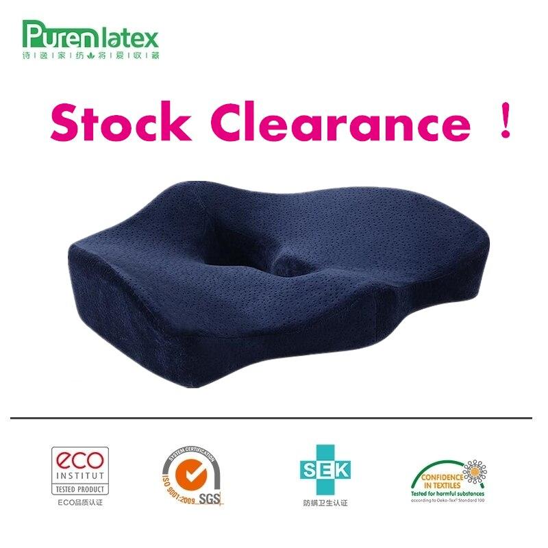 PurenLatex Orthopädische Steißbein Memory-schaum Stuhl Kissen Büro Sitz Pad Hämorrhoiden Behandeln Auto Sitz Rollstuhl Große Fett Kissen Matten