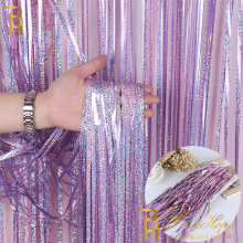 Birthday Party Backdrop Wedding Decoration Curtains Glitter Fringe Tinsel Foil Curtain Adult Baby Shower Photo Booth Rain Drapes(China)