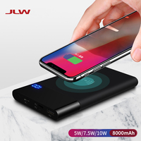 JLW W80 Universal Q1 Wireless Charger for iPhone X 8 8Plus Samsung S9 S8 S7 Mobile Phone Power Bank Battery Wireless Charger