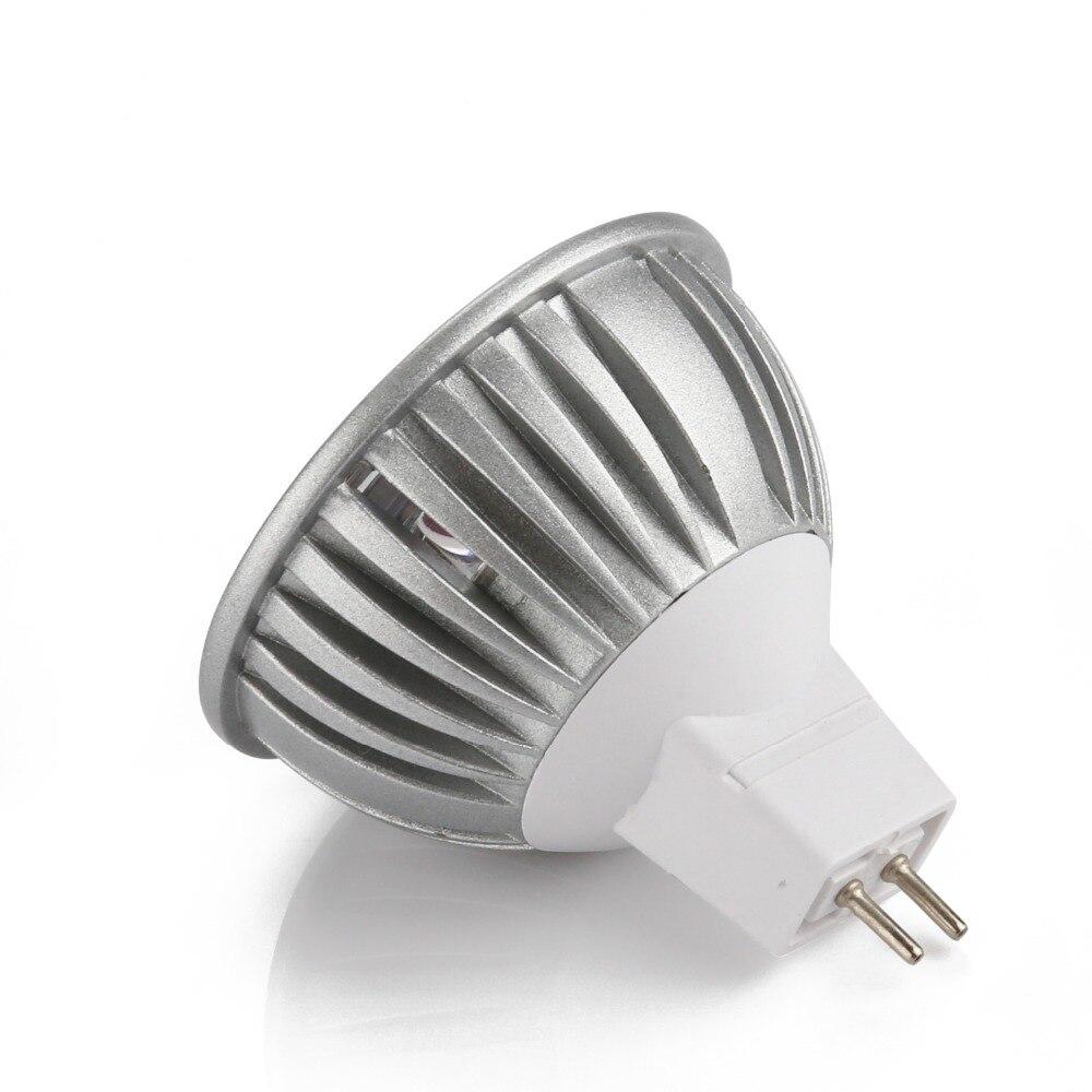 MR16 GU5.3 ampoule LED, ampoule 12 V 6 V 24 V lumière LED, ampoules LED, blanc froid 6000 K Non Dimmable, lot de 50 unités