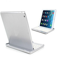 MOSUNX Futural Digital Silver Aluminum Bluetooth Stand Keyboard Case Dock For New Apple IPad Air 5