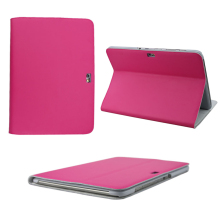 New Fashion (Pink ,Red ,White ) 100% Genuine Leather Case ,Tablet PC Stand  Case And Cover For Samsung Galaxy N8000 N8010