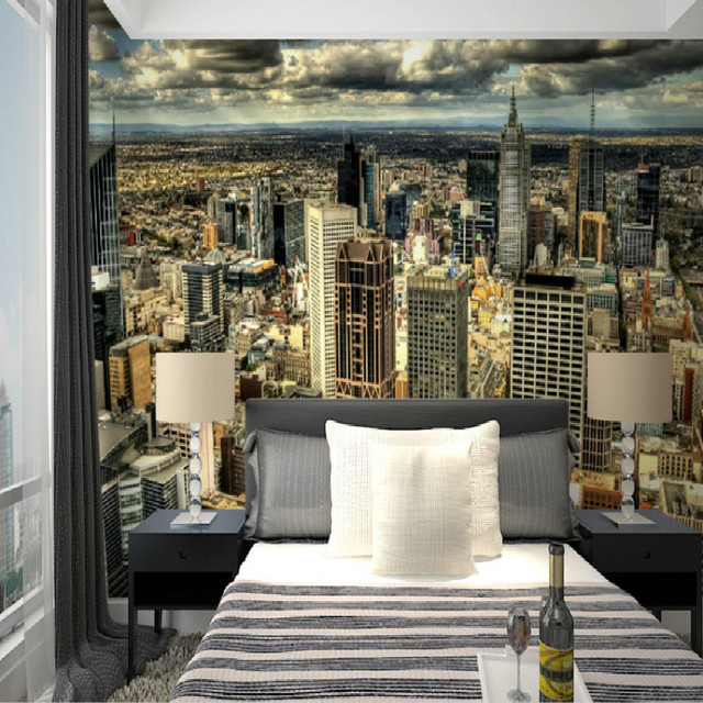 European Home Design Nyc: Mural New York Large Mural TV Background Wall 3D Wallpaper