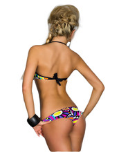 New Style Printing Women Bikini Set Bandage push up Padded Swimwear Underwear Bra Adjustable Strap Sexy Swimsuit