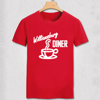 New Casual Men tshirt 2 Broke Girls T Shirt Max's william barg diner hot coffee Life style sitcoms couple Unisex T-shirt