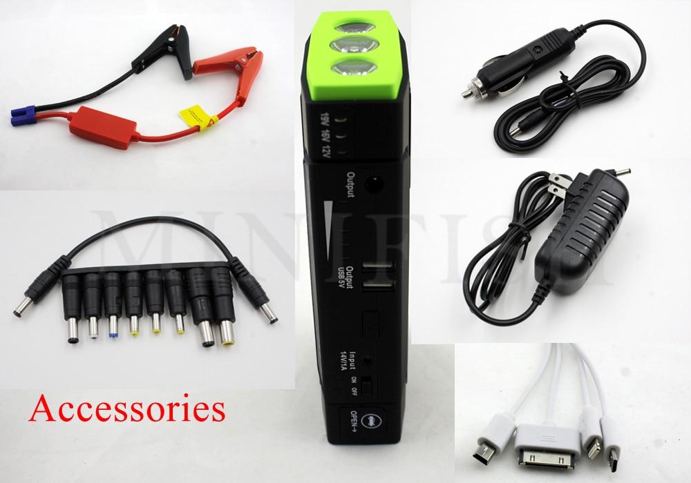 MiniFish meilleures ventes de produits 68000 mAh 600A chargeur de batterie portatif pour mini voiture Saut Démarreur Booster batterie externe Pour Un 12 V Voiture - 4
