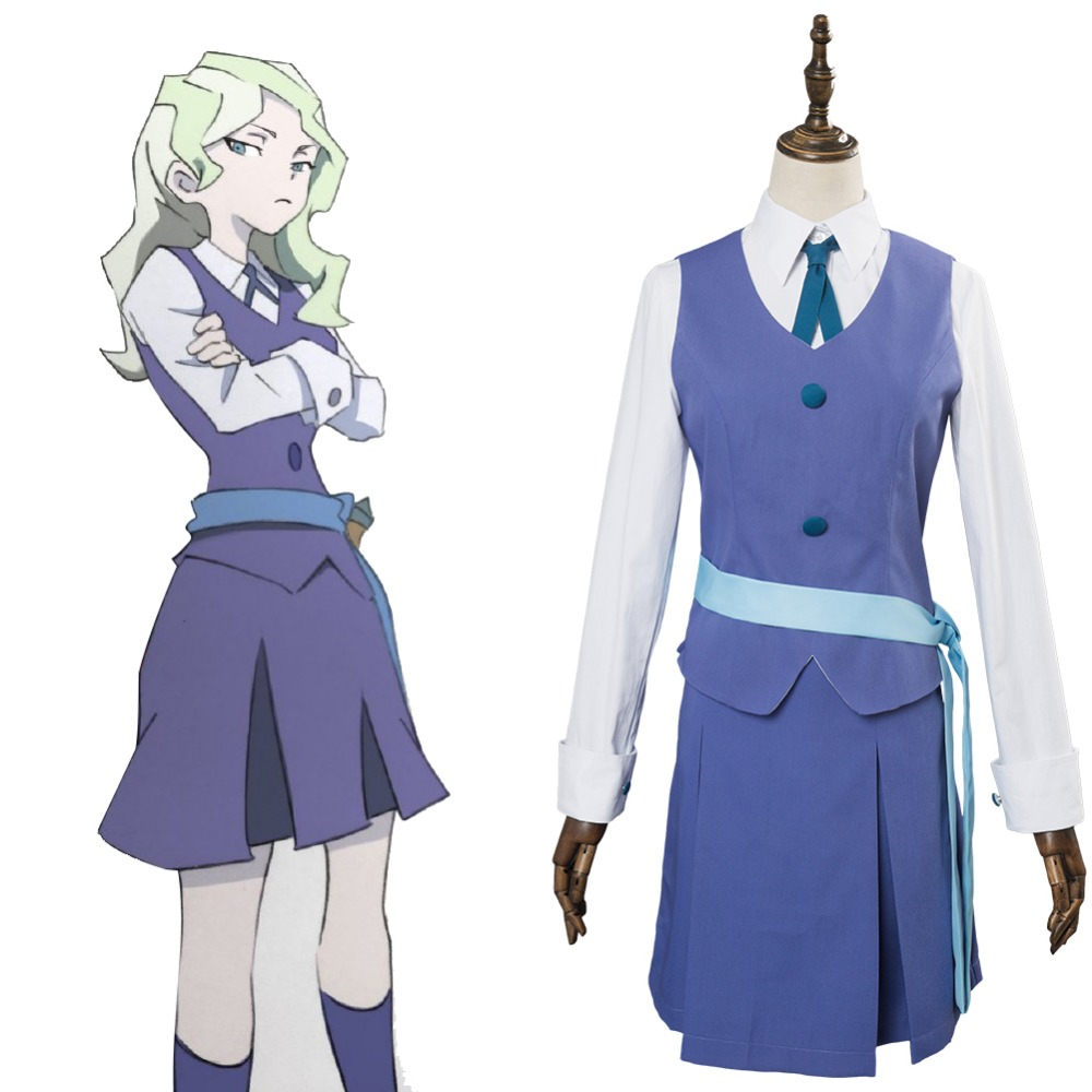 Anime Little Witch Academia Cosplay Diana Cavendish Dress ...