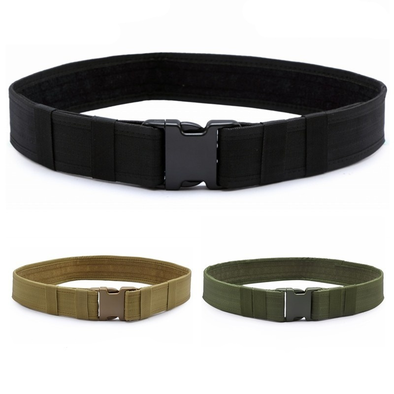 CQC Adjustable 2 Inch Nylon Duty Tactical Belt With Plastic Buckle Outdoor Sport Military Army Combat Hook & Loop Waistband