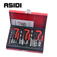 88 Pcs Car Engine Block Restoring Damaged Thread Repair Tool Kit Set M6 M8 M10 SK1040
