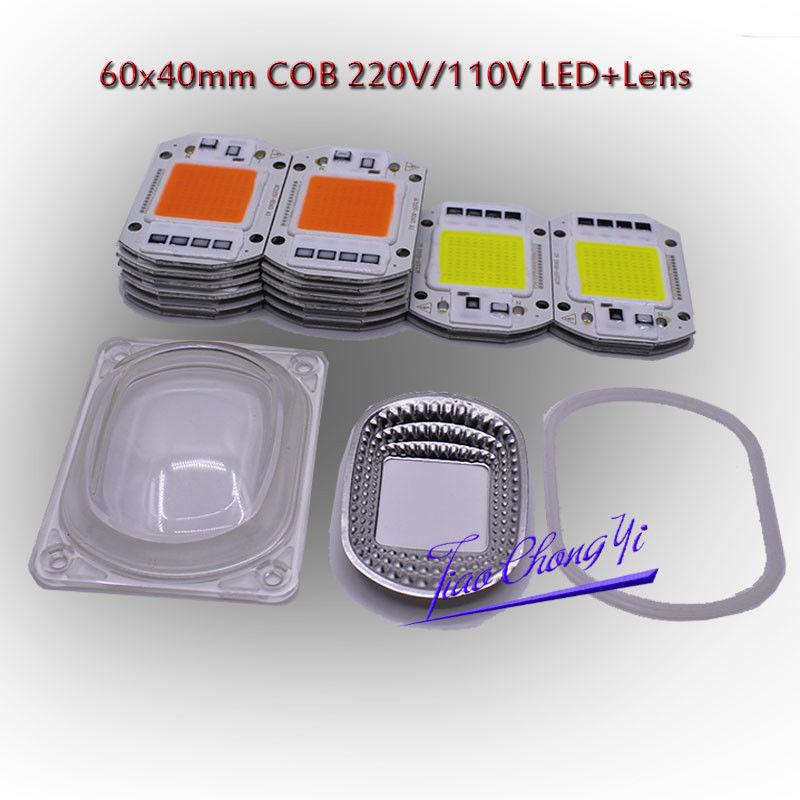 Best Sellers LED COB Grow White Chip+Lens Reflector 50W 30W 20W 110V/220V For LED Flood Light  New