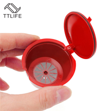 TTLIFE 3pc Refillable Dolce Gusto Coffee Capsule Nescafe Reusable Fliters Strainer +1Spoon+1Brush Coffeeware